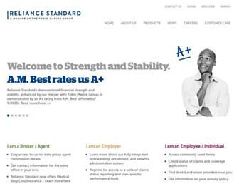 reliancestandard.com screenshot