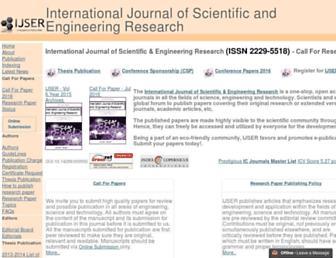 ijser.org screenshot