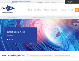 gelest.com screenshot