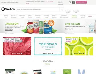 Main page screenshot of well.ca