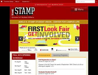 Main page screenshot of stamp.umd.edu