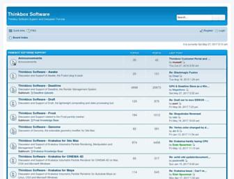 forums.thinkboxsoftware.com screenshot