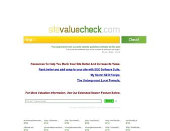 Thumbshot of Sitevaluecheck.com