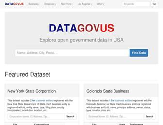 datagovus.com screenshot