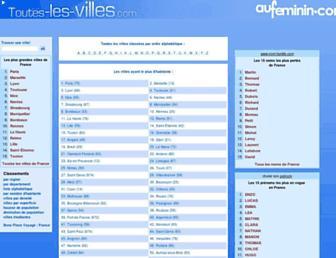 Thumbshot of Toutes-les-villes.com