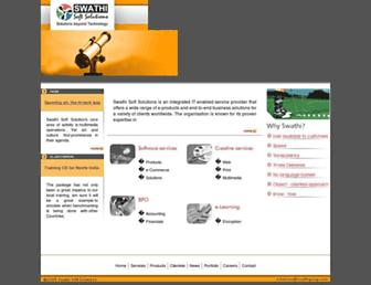 Main page screenshot of softsolutions.co.in