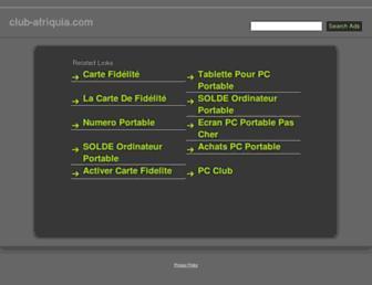 club-afriquia.com screenshot