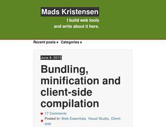 madskristensen.net screenshot