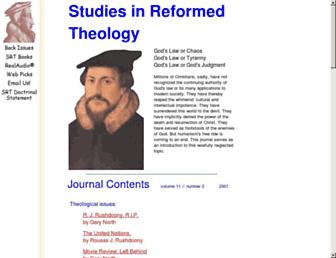 Main page screenshot of reformed-theology.org