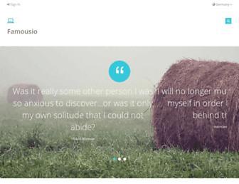 de.famousio.com screenshot