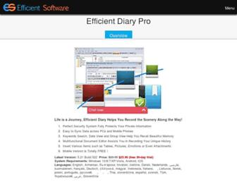 efficientdiary.com screenshot