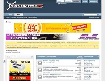 multicopters.es screenshot