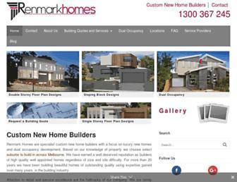 renmarkhomes.com.au screenshot