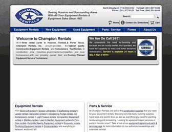 champrentals.com screenshot