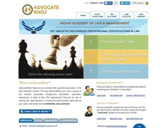 advocatekhoj.com screenshot