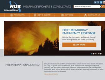 hubinternational.com screenshot