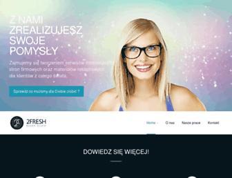 Main page screenshot of 2fresh.pl
