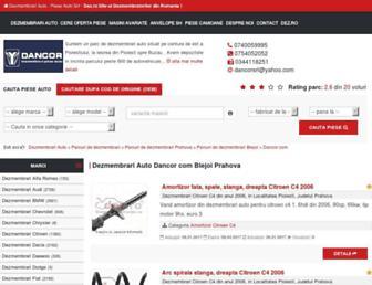 Main page screenshot of dancorcom.dezmembrarimasini.ro