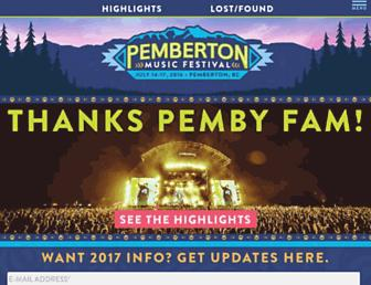 Thumbshot of Pembertonmusicfestival.com