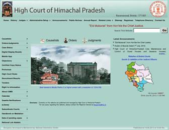 Thumbshot of Hphighcourt.nic.in