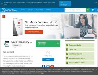 card-recovery-pro.en.softonic.com screenshot