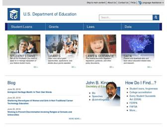 ed.gov screenshot