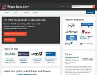 econ-jobs.com screenshot