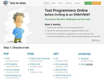 tests4geeks.com screenshot