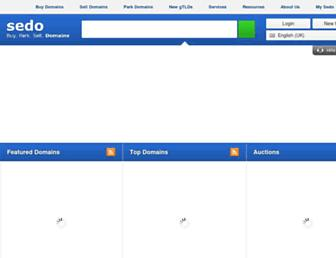 Main page screenshot of sedo.co.uk