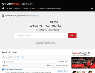 community.servicenow.com screenshot