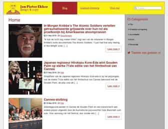 Main page screenshot of jpekker.nl
