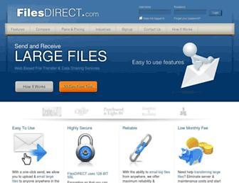 filesdirect.com screenshot
