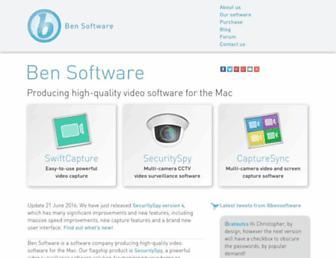 bensoftware.com screenshot