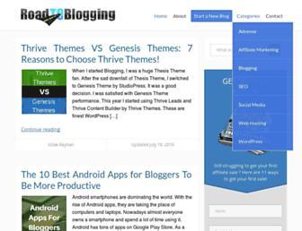 roadtoblogging.com screenshot