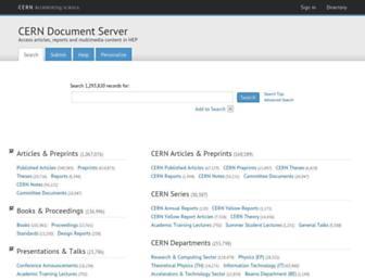 cds.cern.ch screenshot