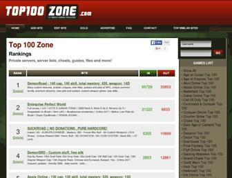 top100zone.com screenshot