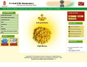Thumbshot of Postallifeinsurance.gov.in