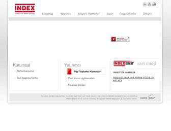 Main page screenshot of index.com.tr
