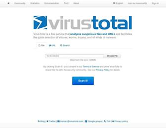 Thumbshot of Virustotal.com