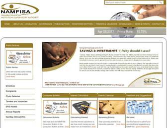 namfisa.com.na screenshot