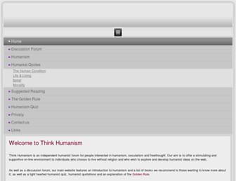 thinkhumanism.com screenshot