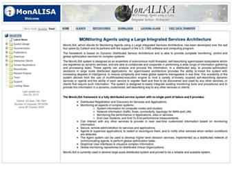 Main page screenshot of monalisa.caltech.edu