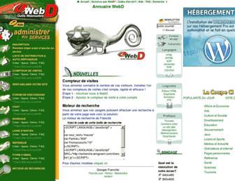 Main page screenshot of webd.org