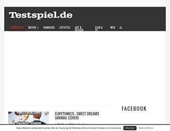 Main page screenshot of testspiel.de