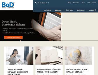 Main page screenshot of bod.de