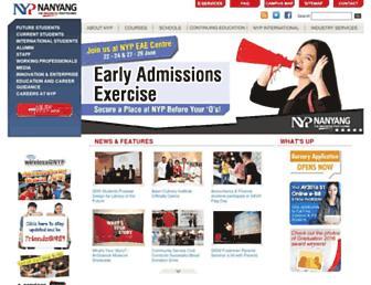 Main page screenshot of nyp.edu.sg