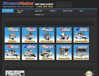 dreammakerhotdogcarts.com screenshot
