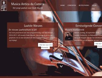 Main page screenshot of musantica.nl