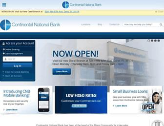 continentalbank.com screenshot
