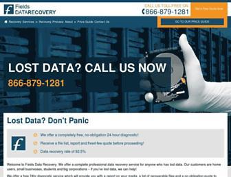 fields-data-recovery.com screenshot